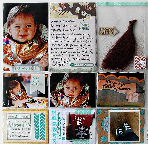 project life week 25, back | COCOA DAISY MAY KIT