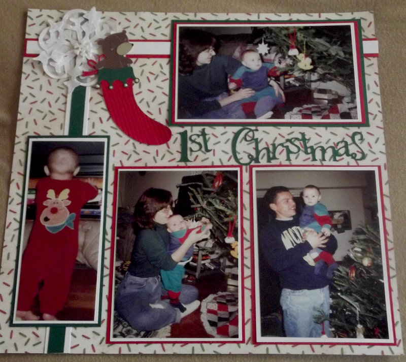 1st Christmas layout