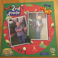 First Day of 2nd Grade Layout