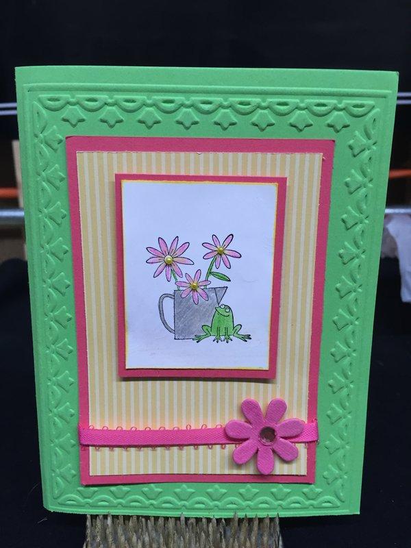 Spring Frog card