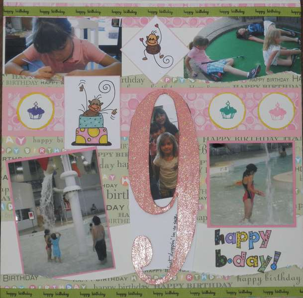 Anna's 9th Birthday Layout Page 1