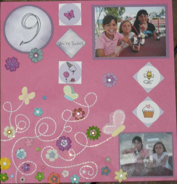 Anna's 9th Birthday Layout page 3