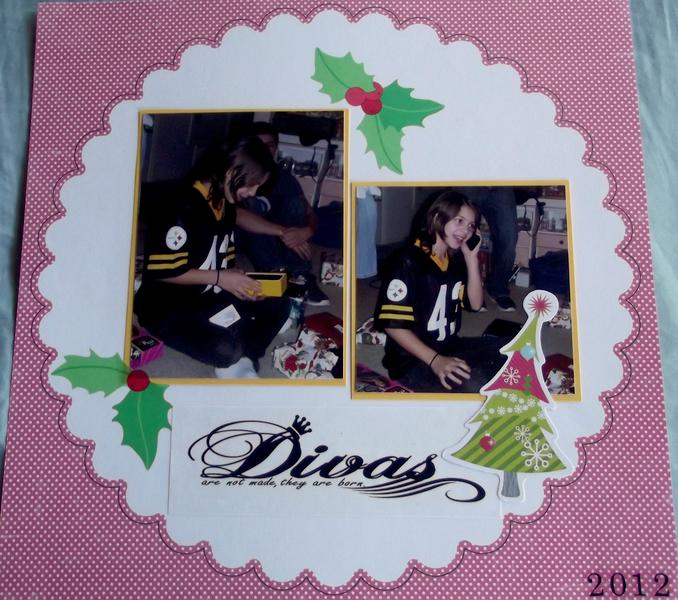 Christmas Diva Layout