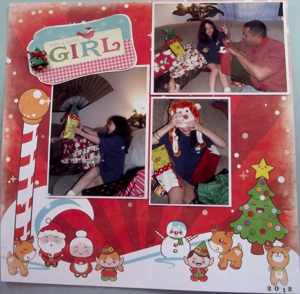 For a Good Girl Christmas Layout
