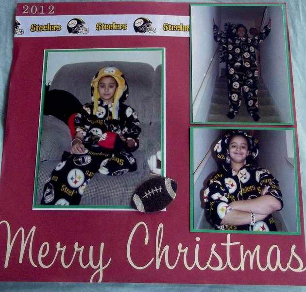 Merry Christmas Steelers Style Layout