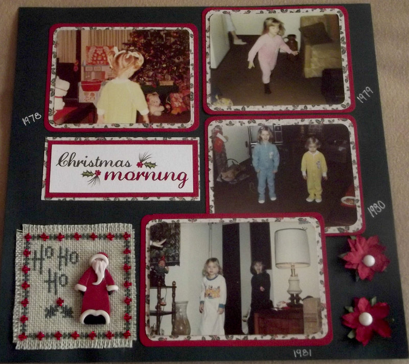 Vintage Christmas Morning Page 1 Layout