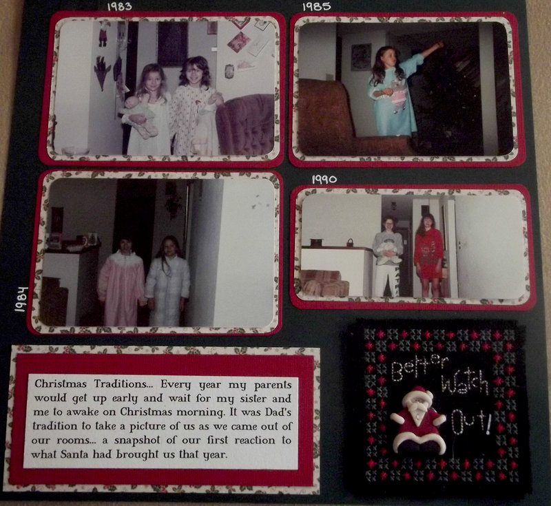 Vintage Christmas Morning Page 2 Layout