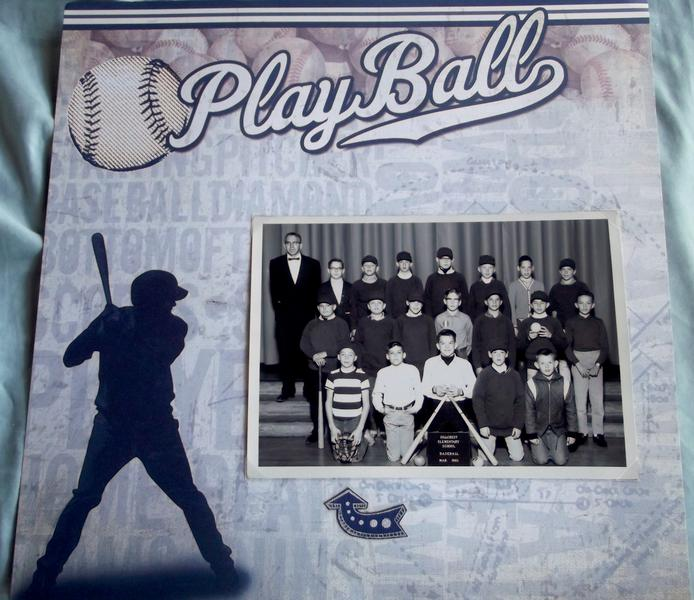 Play Ball Baseball 1960s layout