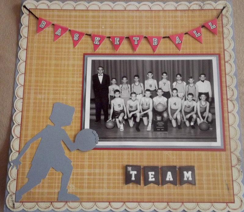 Basketball Team Photo Layout