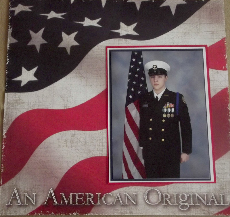 An American Original ROTC Portrait Layout
