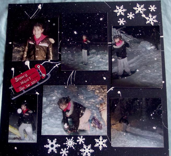 Snowy Night Layout - Daughter