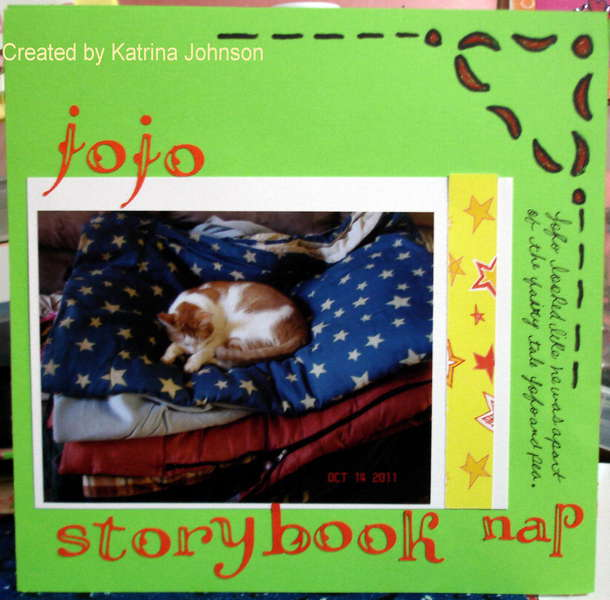 Jojo's storybook nap