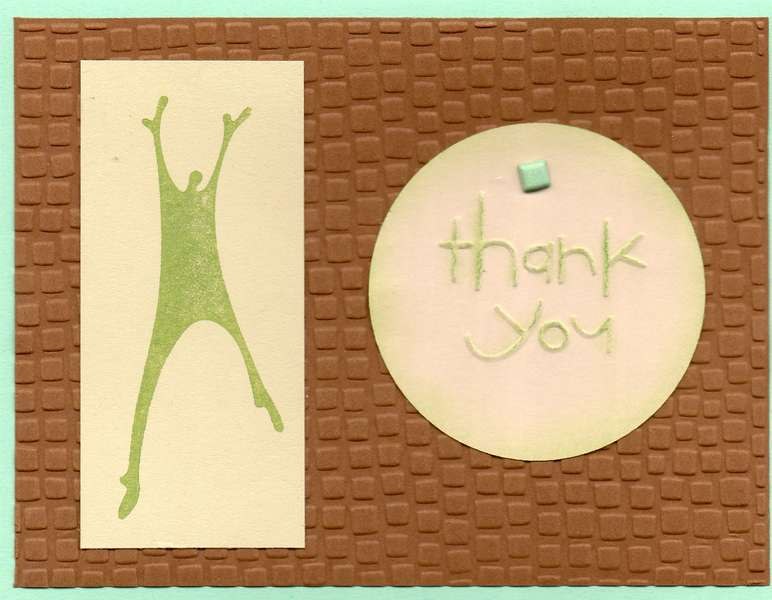 Thank You - Brown & Green