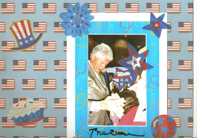PRESIDENT CLINTON AND ME IN BUTTE, MT,