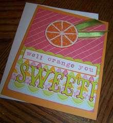 Orange Citrus Card