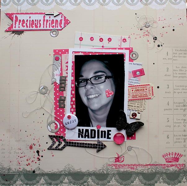 My friend Nadine!!!
