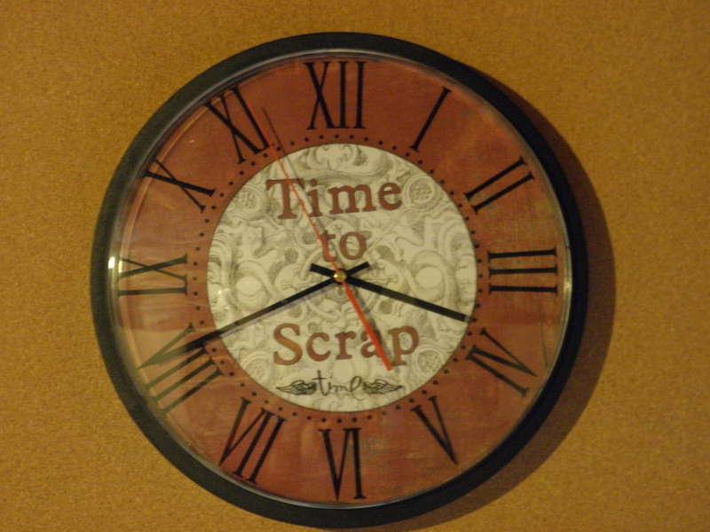Clock for scraproom