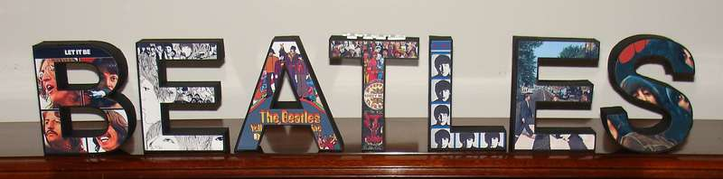 All Paper 3D Letters (The Beatles)