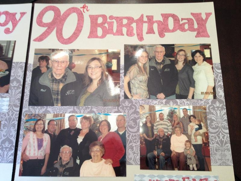 90th Birthday - Right Page