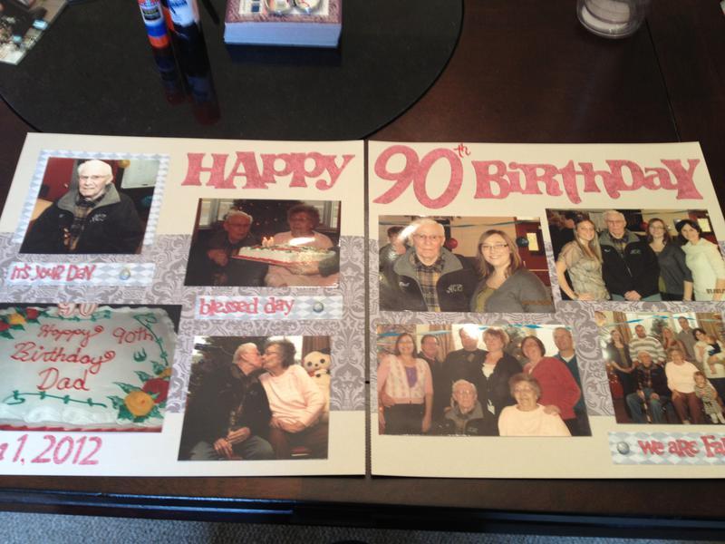 90th Birthday - 2Pg Layout