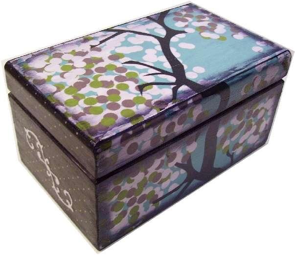 Small Decoupaged Recipe Box