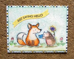Just saying hello critters (card)