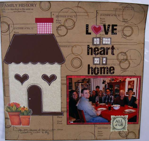 Love is the heart of a home
