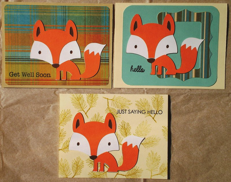 Cards for kids - fox