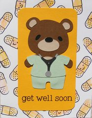 get well soon dr. bear - cards for kids