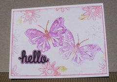 hello (butterfly card)