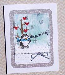 Falalala penguin card
