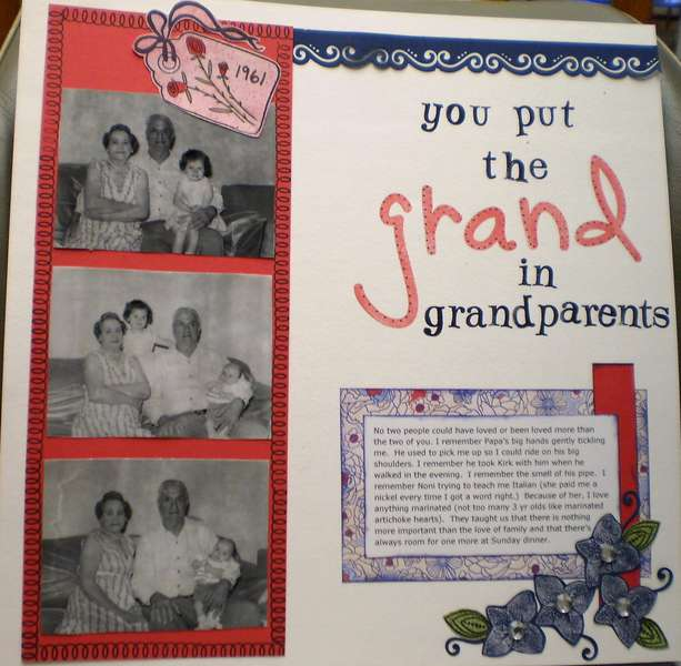 you put the GRAND in grandparents
