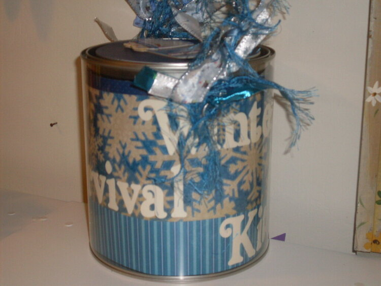 Altered Paint Can for my Auntie and Uncle