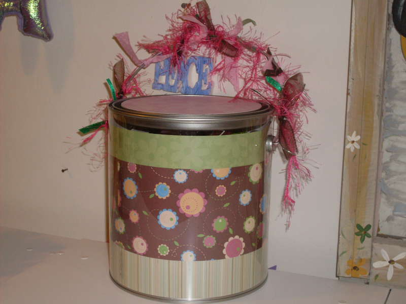 Altered Paint Can for Eric's Mom