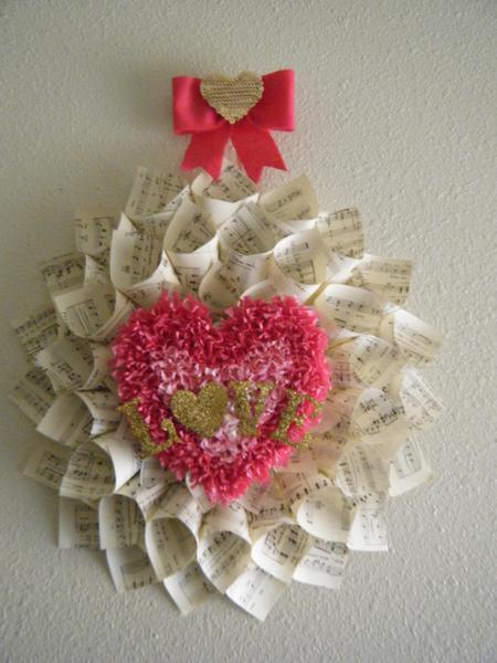 Sheet Music Love Cone Wreath