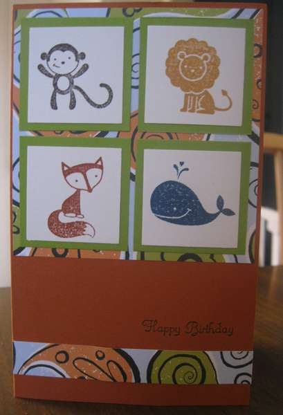 Fox and Friends Birthday Card