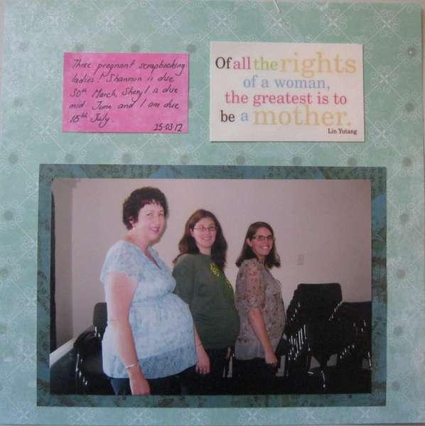 Three pregnant ladies