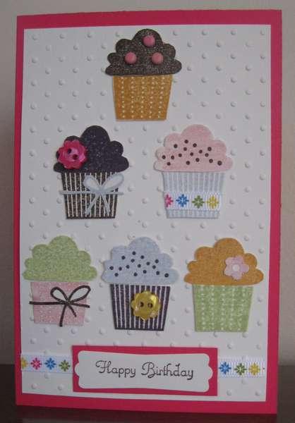 Cupcake Happy Birthday Card