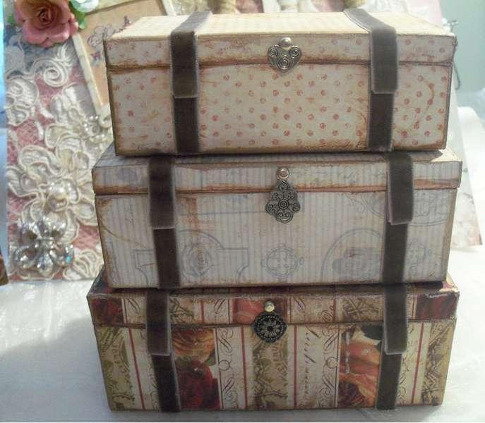 Mini Steamer Trunk Boxes