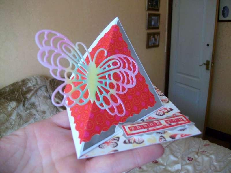 butterfly thankyou card
