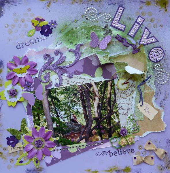 Live Life ~ July Ugly Paper Challenge