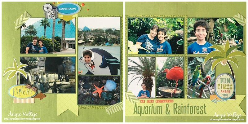 At the Pyramids: Aquarium & Rainforest
