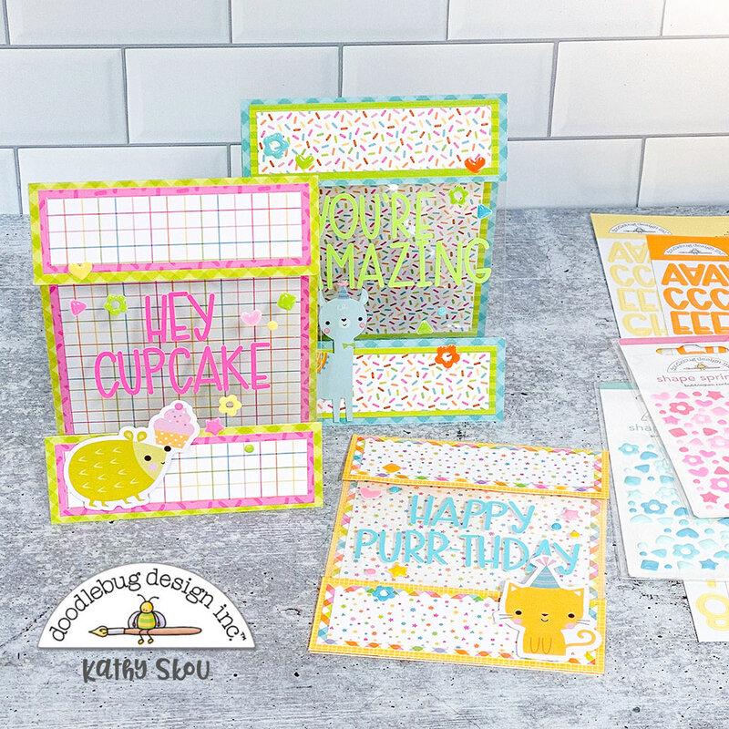Doodlebug Design   Hey Cupcake Floating Cards