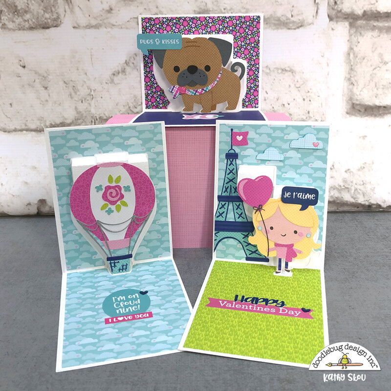 Doodlebug Design | French Kiss Pop Up Cards