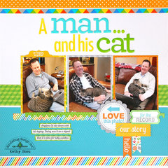 *** Doodlebug Design *** A Man and His Cat