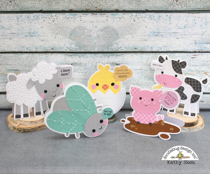 *Doodlebug Design * Down on the Farm Shaped Cards