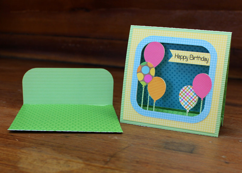 Lori Whitlock 3d Happy Birthday Balloon Card