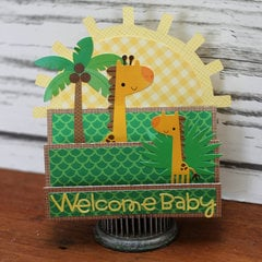 *** Doodlebug Design *** Welcome Baby Card (At the Zoo)