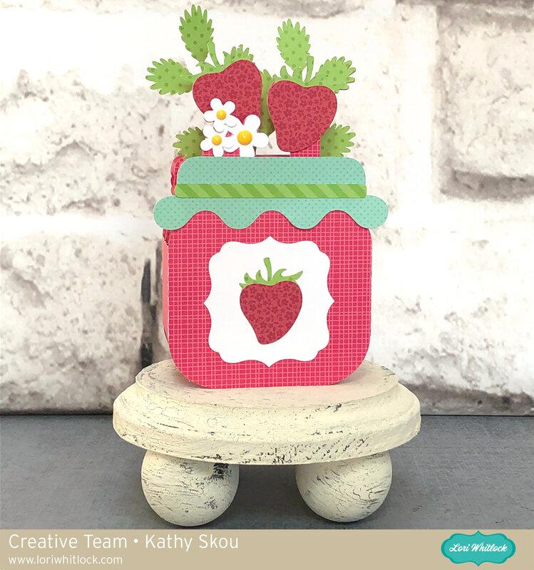 Lori Whitlock | Strawberry Jam Box Card