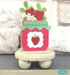 Lori Whitlock | Strawberry Jam Box Card